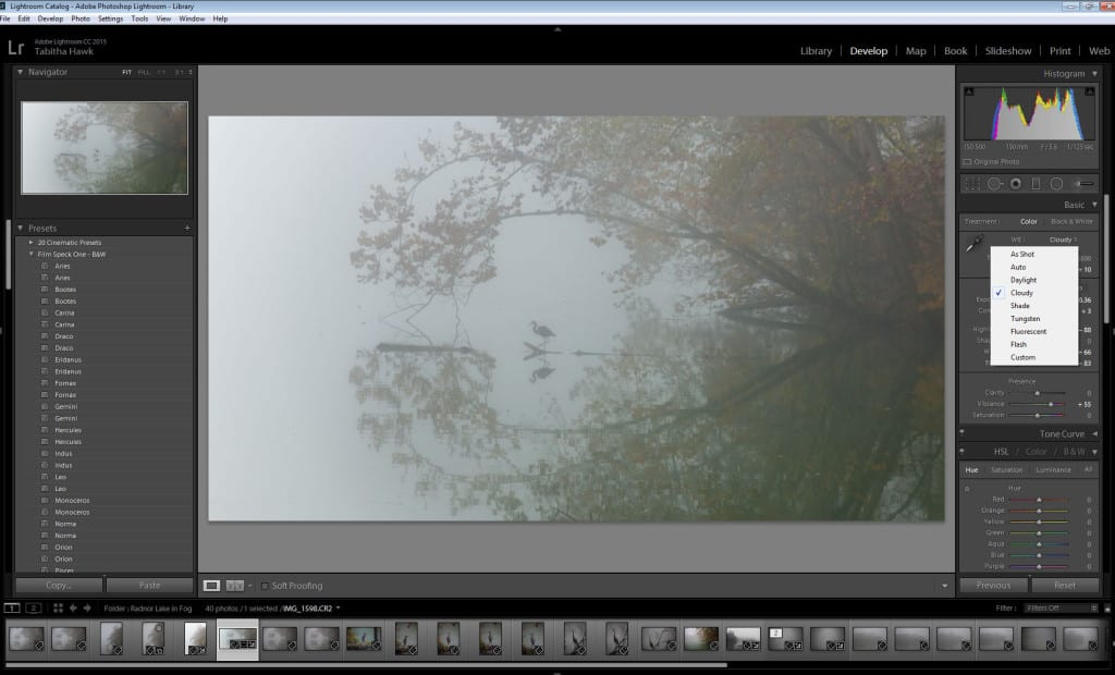 lightroom develope - WB
