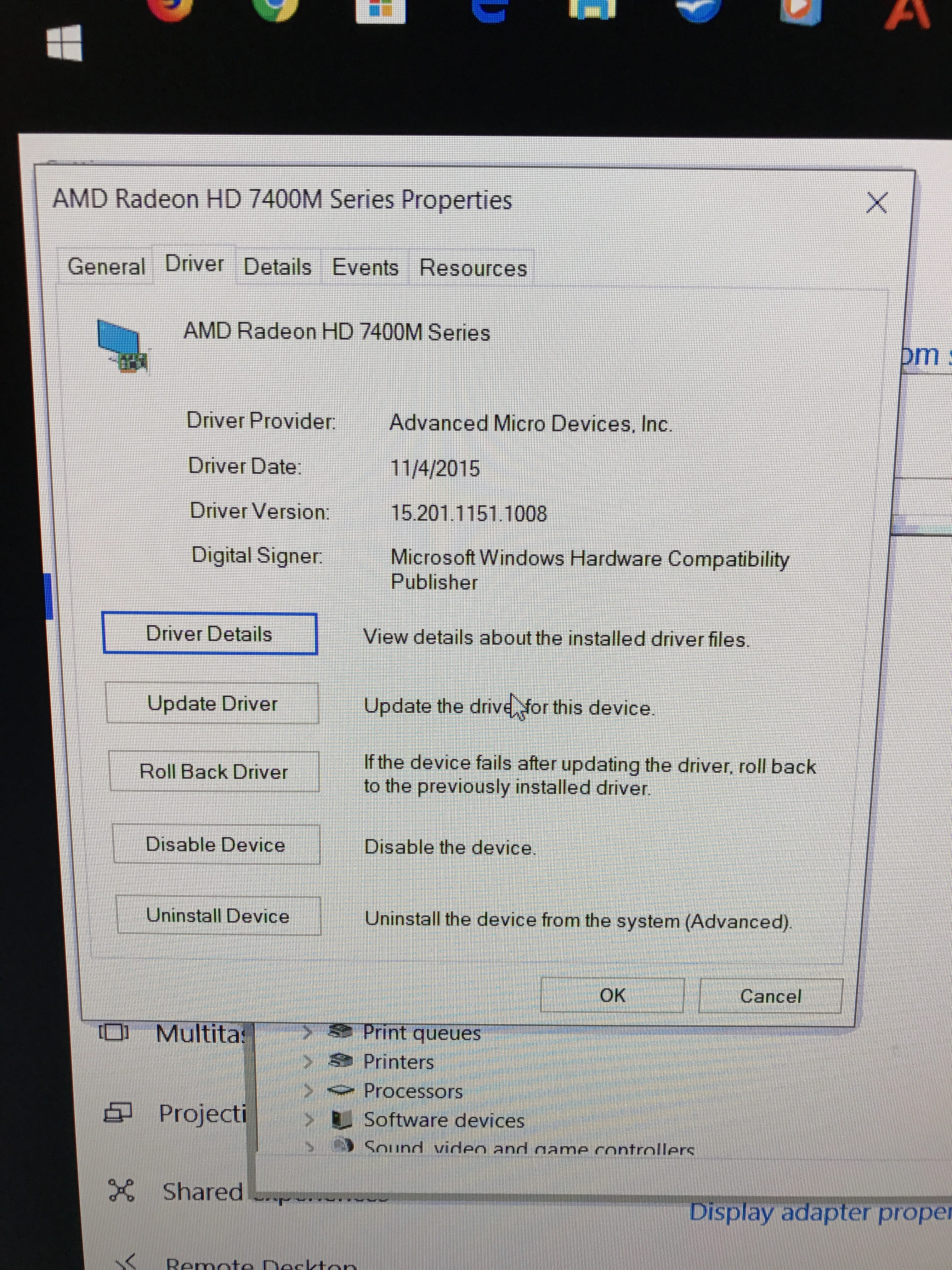 Screen Resolution stuck at 1024×768 after Windows 10 Update on